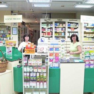 Lékárna - interier